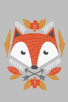 Estampa Camiseta Fox