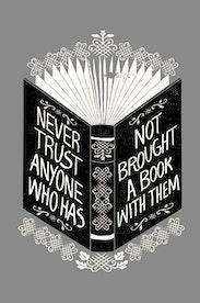 Estampa Camiseta Never Trust