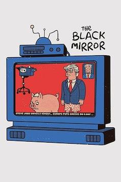 Estampa Camiseta The Black Mirror