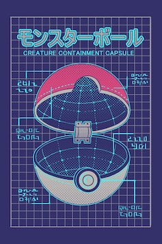 Estampa Camiseta Pokeball