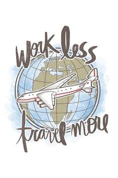 Estampa Camiseta Travel More