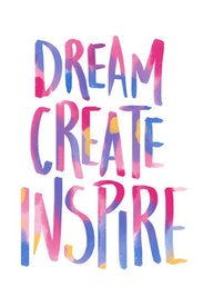 Estampa Camiseta Dream, Create, Inspire