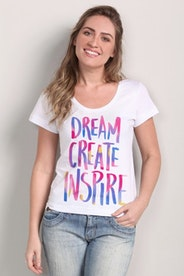 Camiseta Dream, Create, Inspire