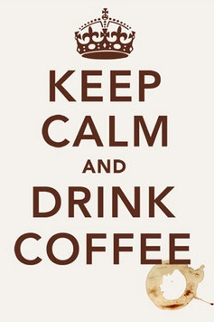 Estampa Camiseta Keep Calm and Drink Coffee