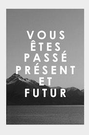 Estampa Camiseta Passé, Présent, Futur