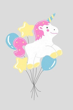 Estampa Camiseta Balões