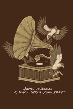 Estampa Camiseta Musicólatra