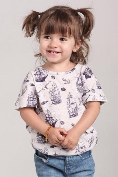 Camiseta Infantil Navy