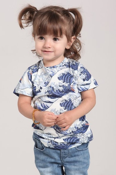 Camiseta Infantil Waves