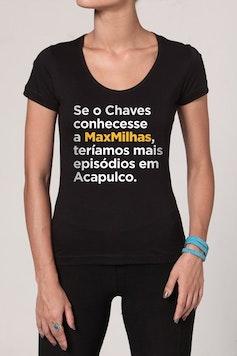 Estampa Camiseta MaxMilhas Chaves