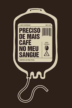 Estampa Camiseta Bolsa de Café