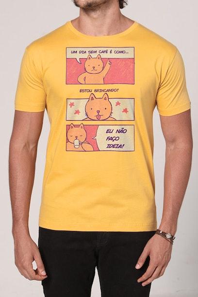 Camiseta Um Dia Sem Café