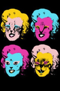 Estampa Camiseta Marilyn Cats