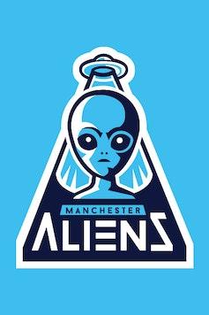 Estampa Camiseta Manchester Aliens