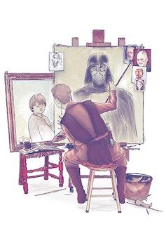 Estampa Camiseta Anakin's Portraits