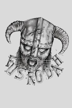 Estampa Camiseta Skyrim