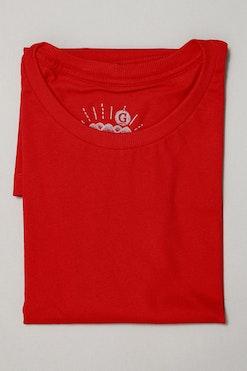 Camiseta Básica Vermelho Pepper R$59,90 | 4x de R$14,97