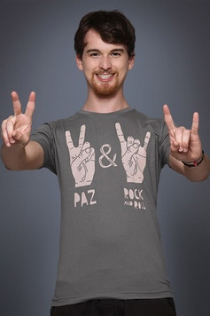 Camiseta Paz y Rock