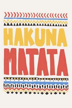 Estampa Camiseta Hakuna Matata