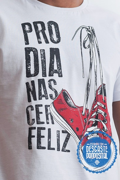 Camiseta Pro Dia Nascer Feliz