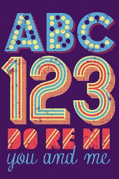 Estampa Camiseta ABC