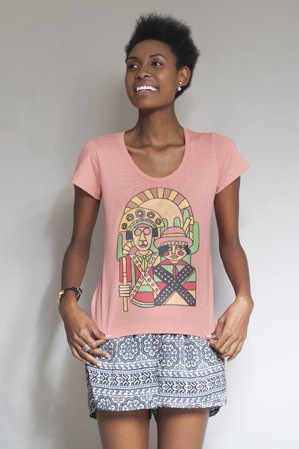 Camiseta Camiseta Lampião e Maria Bonita