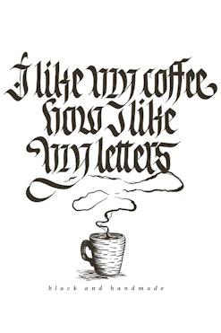 Camiseta Coffee & Letters R$74,90 | 4x de R$18,73