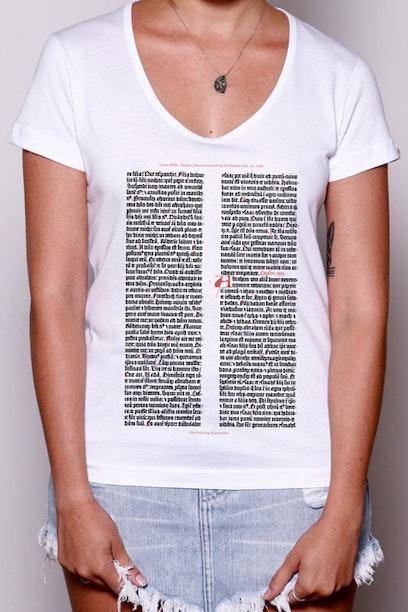 Camiseta Gutenberg Bible