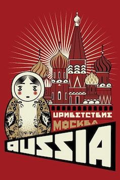 Estampa Camiseta Russia
