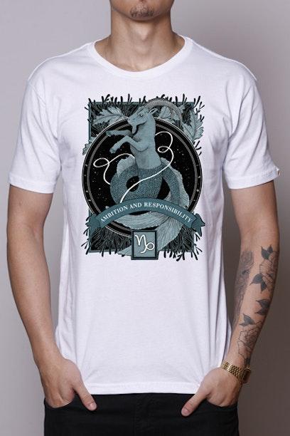 Camiseta Branca Capricorn