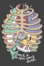 Estampa Camiseta Anatomia Sonora