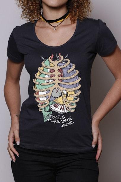 Camiseta Anatomia Sonora - Chico Rei