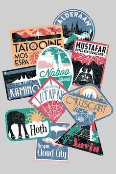 Estampa Camiseta Viajante Estelar