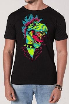 Camiseta Dinossauro do Rock