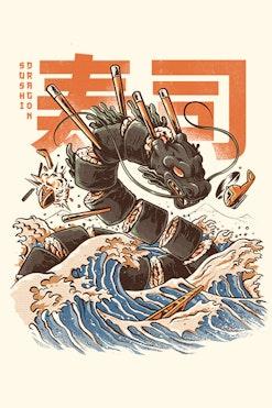 Camiseta Sushi Dragon R$74,90 | 4x de R$18,73