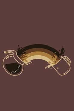 Camiseta Coffee Rainbow R$74,90 | 4x de R$18,73