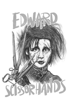 Estampa Camiseta Edward Scissorhands