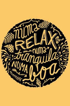 Estampa Camiseta Relax