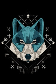 Estampa Capa Wolf