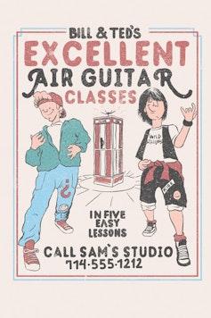 Estampa Capa Air Guitar Classes