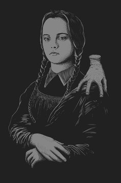 Estampa Capa Mona Lisa Addams