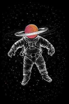 Estampa Capa Saturn