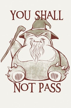 Estampa Capa You Shall Not Pass