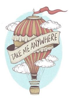 Estampa Capa Take Me Anywhere