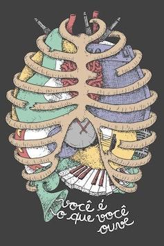 Estampa Capa Outlet Anatomia Sonora