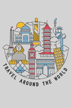 Estampa Capa Around The World