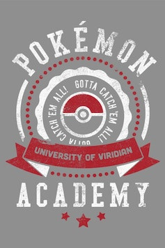 Estampa Manga Longa Pokémon University