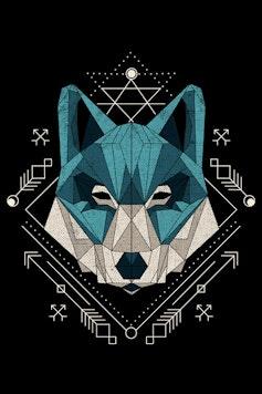 Estampa Manga Longa Wolf