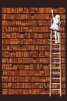 Estampa Manga Longa Biblioteca