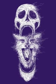 Estampa Manga Longa Wolf Skull